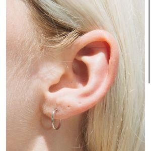 BrandyMelville infinity hoop mini silver earrings